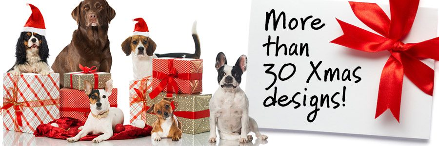 30+ Christmas Dog Bandana Designs!