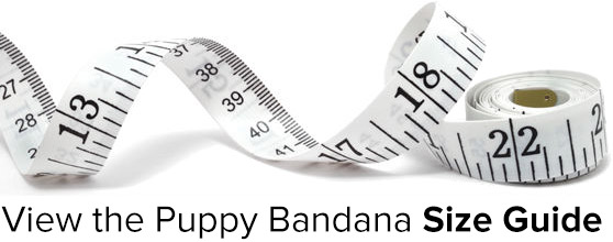 Puppy Bandana Size Guide