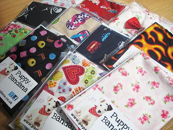 New dog bandana designs from www.puppybandana.co.uk