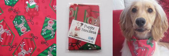 Christmas Dog Bandanas - Reindeer - Puppy Bandana