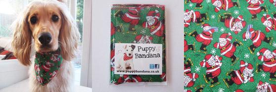 christmas presents for dogs santa on skates dog bandana
