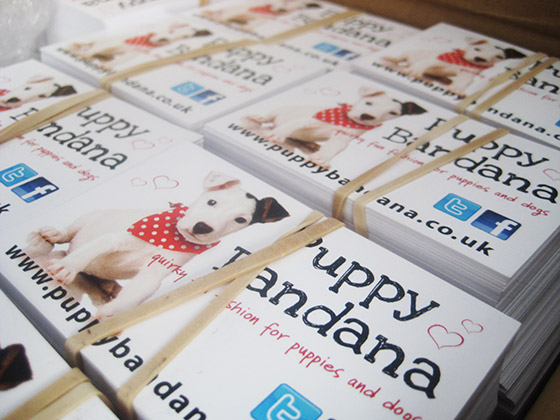 Puppy bandana business cards