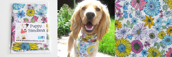 meadow flowers dog bandana