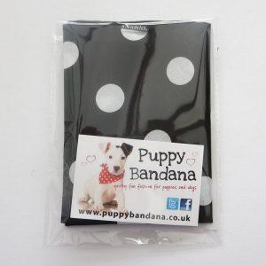 Black and White Polka Dot Dog Bandana
