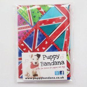 Funky Union Jack Dog Bandana