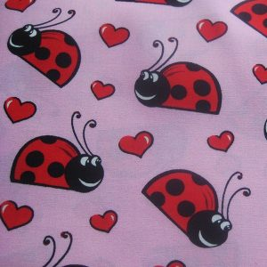 LLadybird Lovebugs Dog Bandana in Pink