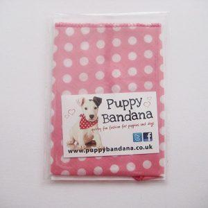 Pink Mini Dot Dog Bandana