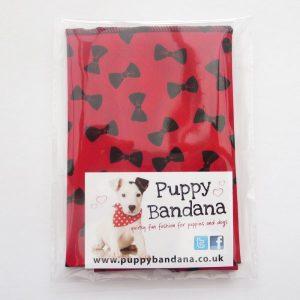 Red Bow Tie Dog Bandana