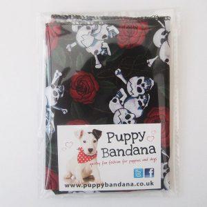 Skulls and Roses Dog Bandana