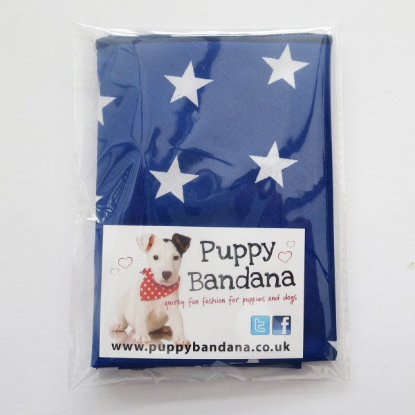 Blue Stars Dog Bandanas
