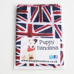 Union Jack Cotton Dog Bandanas