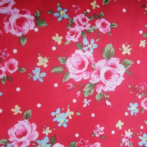 Vintage Rose Red Dog Bandana