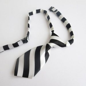 Black and White Stripey Tie