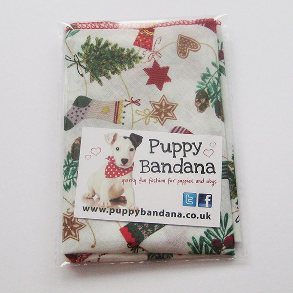 Christmas Stockings Dog Bandana Puppy Bandana
