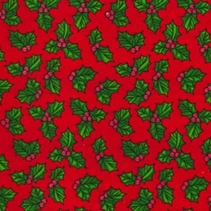 Red Christmas Holly Dog Bandana