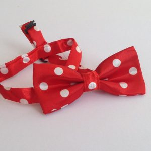 Red Spotty Dickie Bow