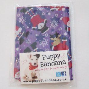 Santa and Friends Dog Bandana