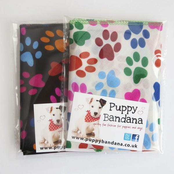 Paw Prints Dog Bandanas