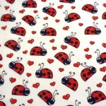 Ladybird Lovebugs Dog Bandana White