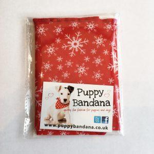 Festive Snowflakes Dog Bandana