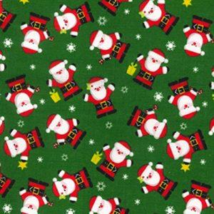 Santa Claus Dog Bandana in Green