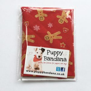 The Gingerbread Man Dog Bandana fro Puppy Bandana