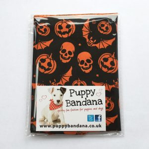 Halloween Pumpkins and Bats Dog Bandana from Puppy Bandana