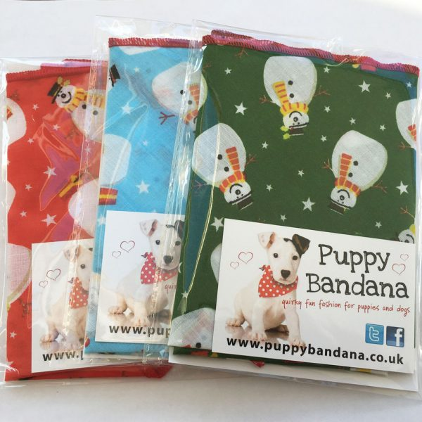 Smiley Snowman Dog Bandana Special Offer Pack