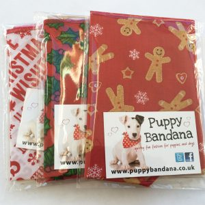 3 pack of christmas treat dog bandanas from Puppy Bandana