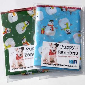 Snowman Twin Pack Of Dog Bandanas from Puppy Bandana