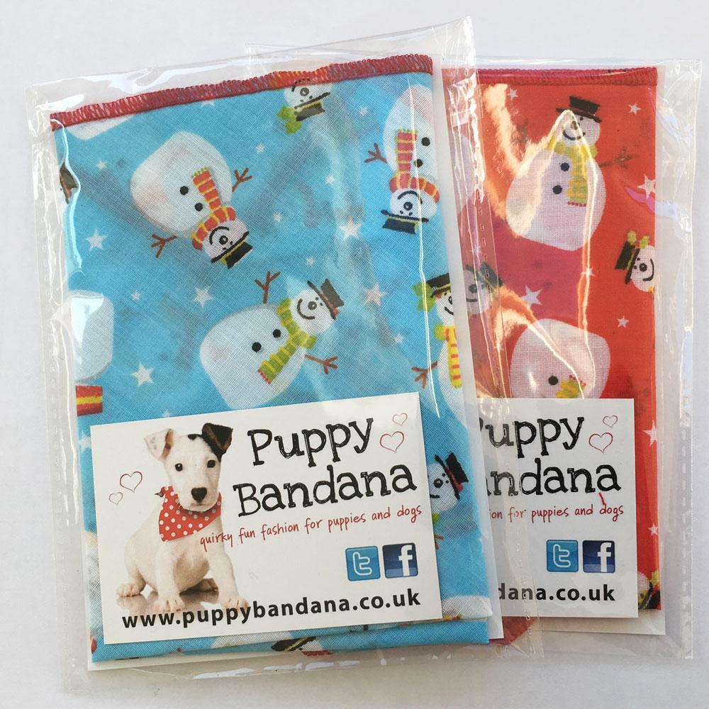 Snowman Dog Bandana Offer Pack from Puppy Bandana