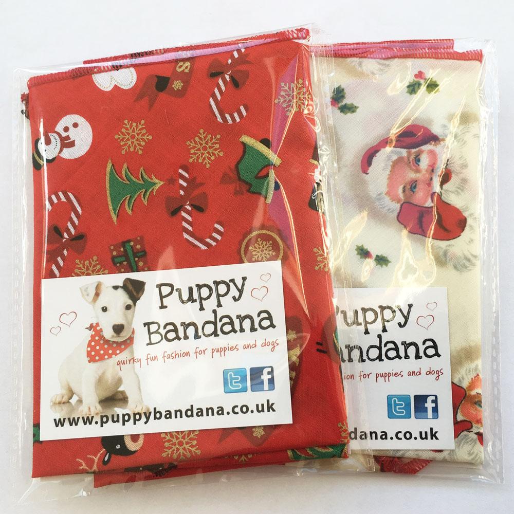 Christmas Cracker Dog Bandana Offer from Puppy Bandana