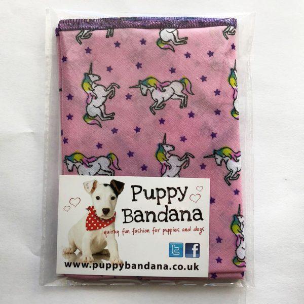 Unicorn Dreams Dog Bandana from Puppy Bandana