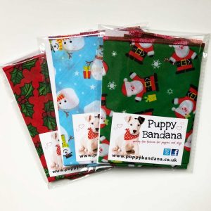 Christmas Selection of Dog bandanas from Puppy Bandana