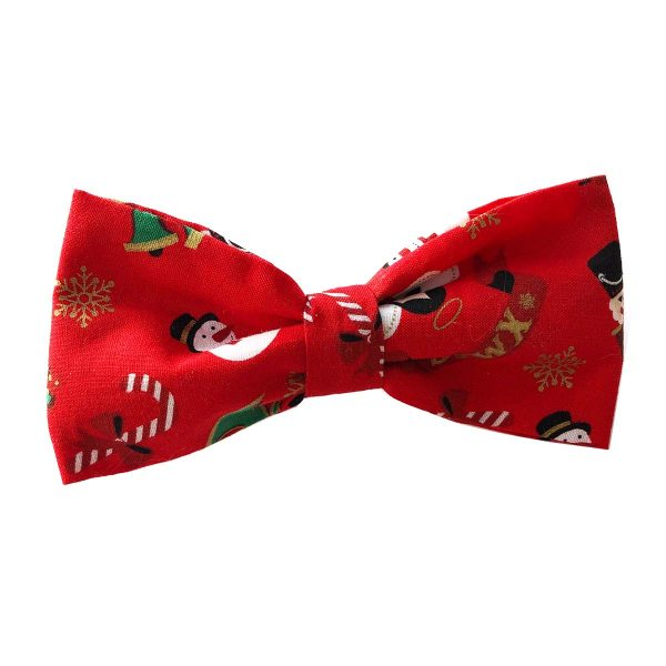 Large Christmas Bow Tie for dogs